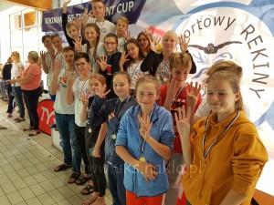 133 UKS Czwórk Nakło na zawodach w Osielsku